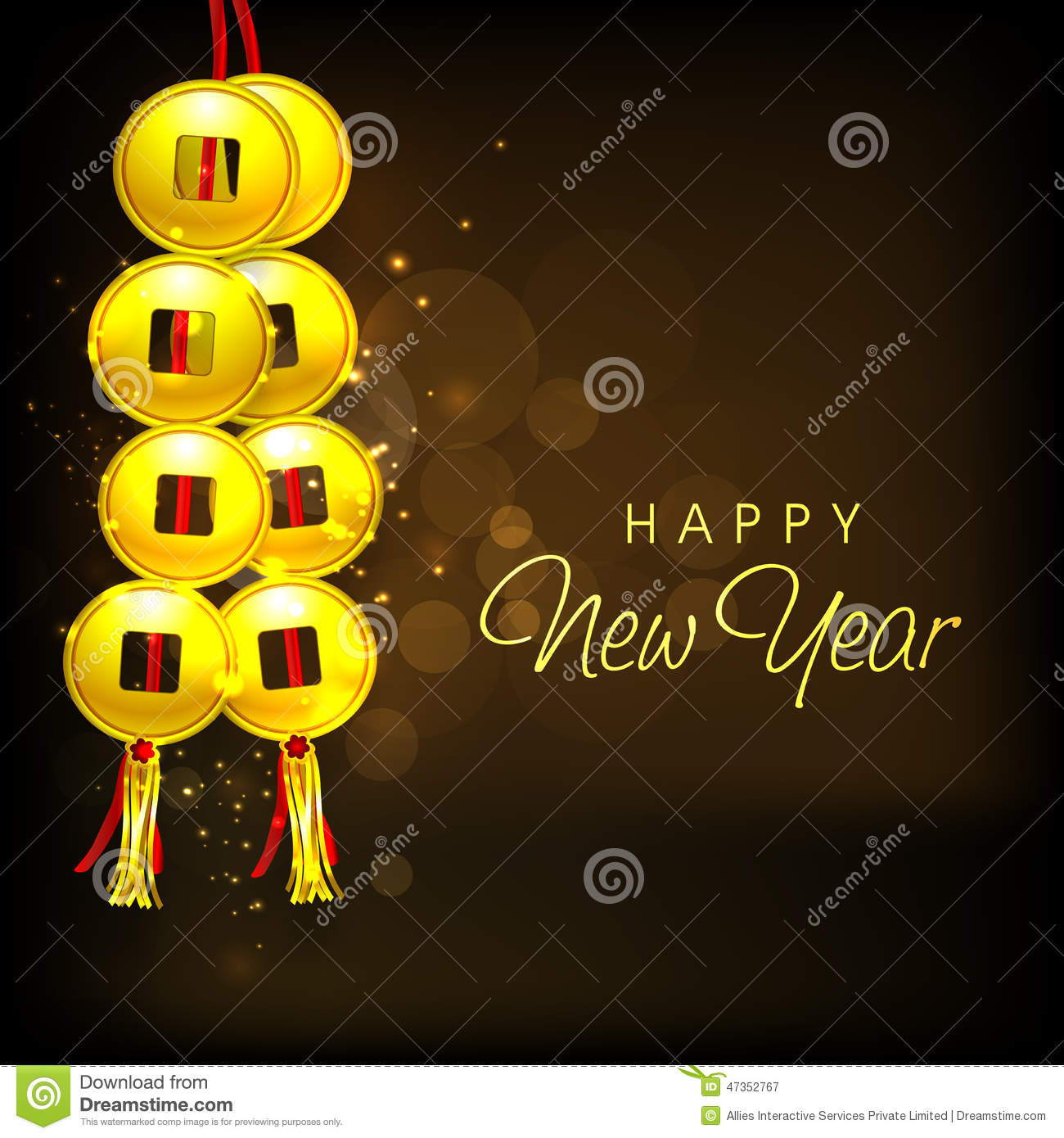 Beautiful Greeting Card Design For Happy New Year Celebrations