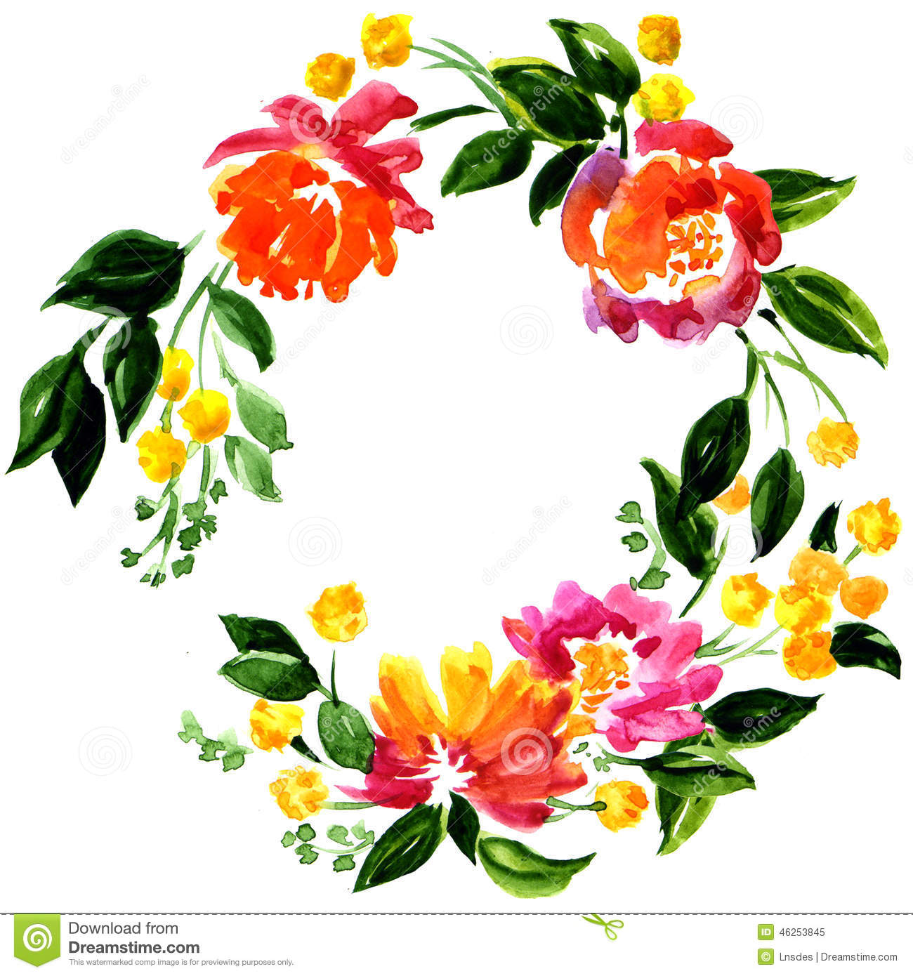 Beautiful greeting card with floral wreath stock illustration beautiful greeting card with floral wreath m4hsunfo Image collections