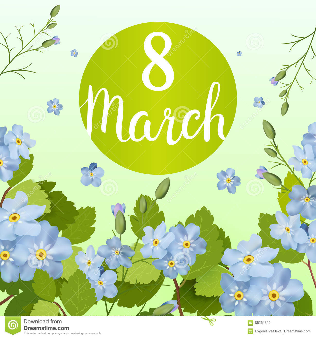 Beautiful Greeting Card With The Holiday Of March 8, International ...