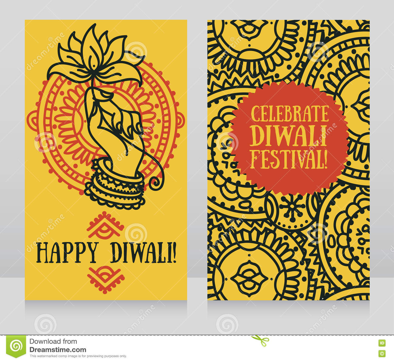 Beautiful greeting cards for diwali festival with indian gods hand download beautiful greeting cards for diwali festival with indian gods hand and lotus stock m4hsunfo
