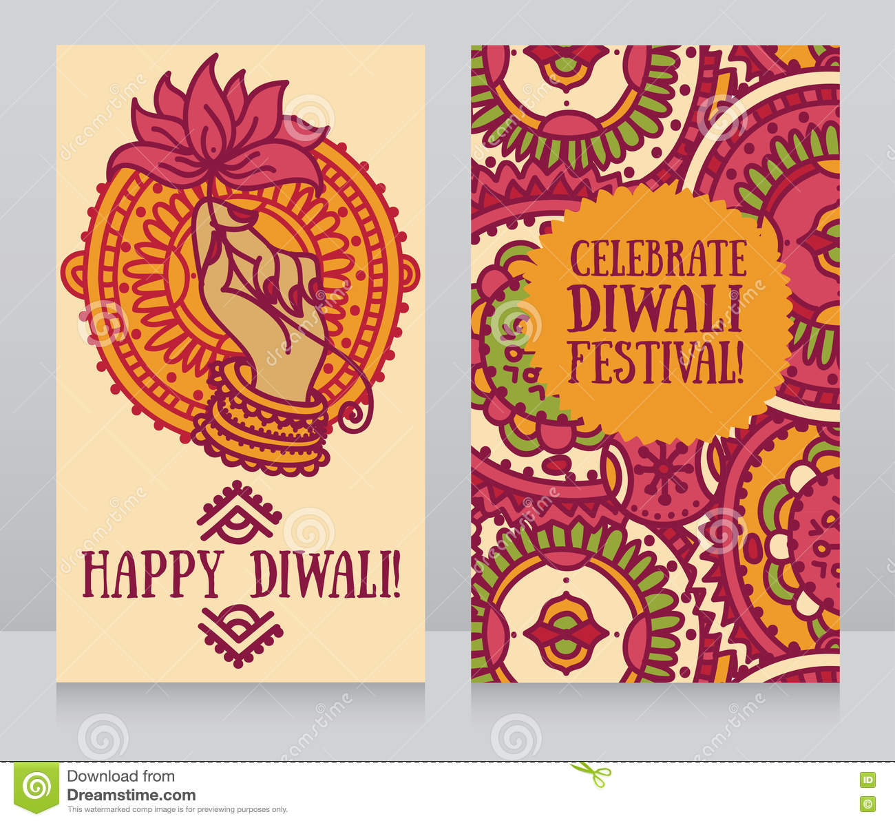 Beautiful greeting cards for diwali festival with indian gods hand download beautiful greeting cards for diwali festival with indian gods hand and lotus stock vector m4hsunfo