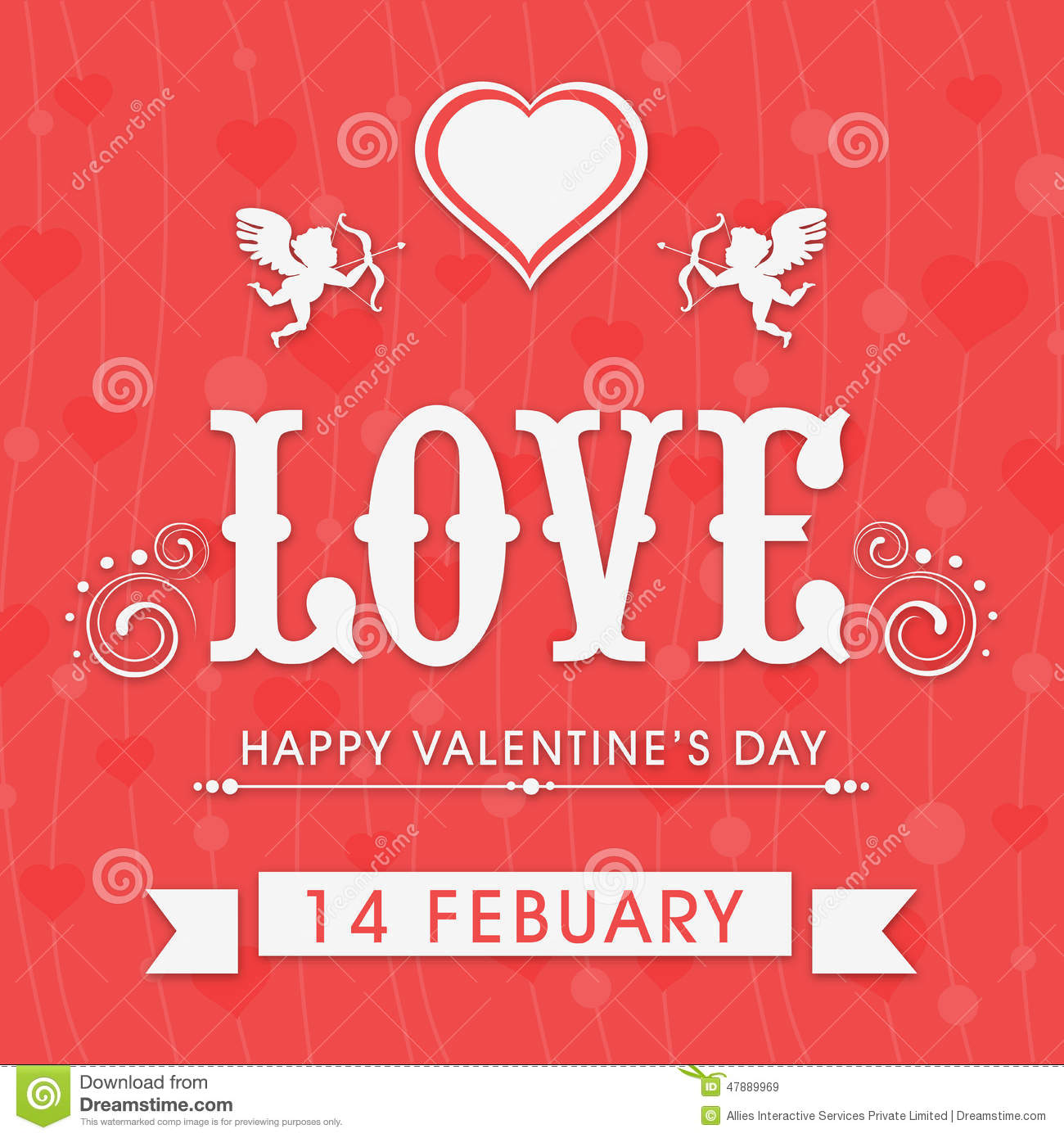 Beautiful Greeting Cards For Happy Valentines Day Celebration