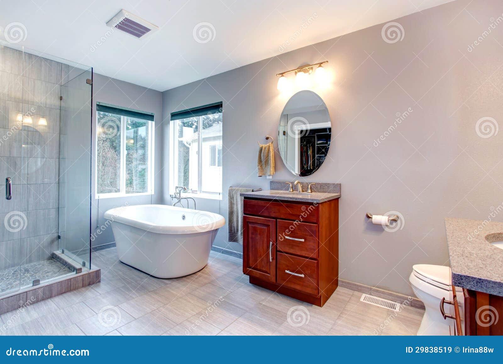 Beautiful Grey New Modern Bathroom Interior Royalty Free Stock Images Image 29838519