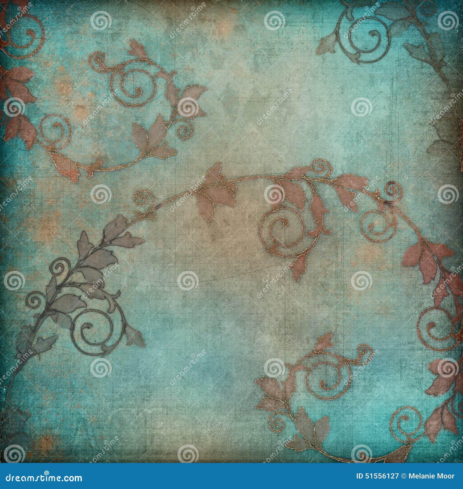 teal wallpaper border
