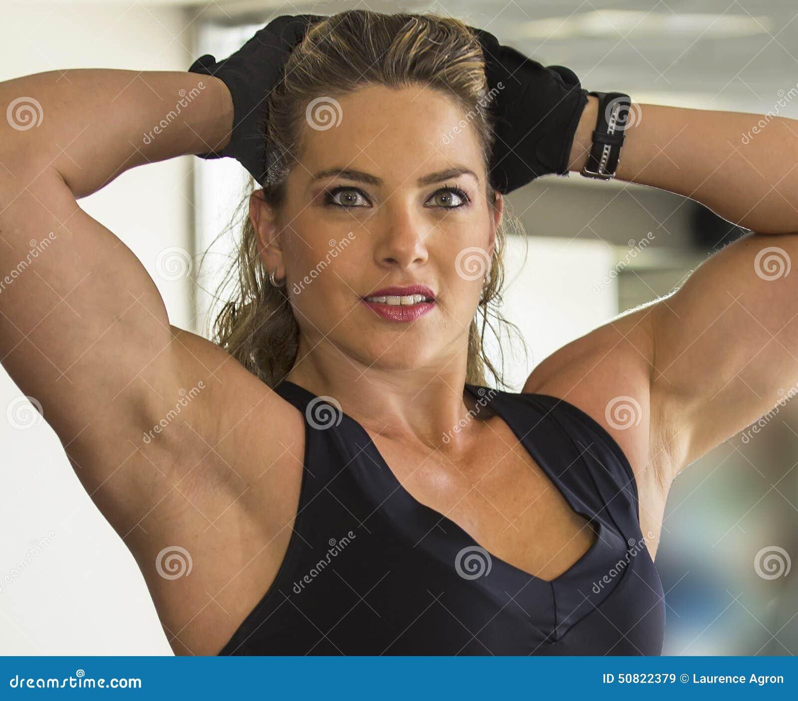 Dan Shemesh: Beautiful Gym Rat Stock Photo