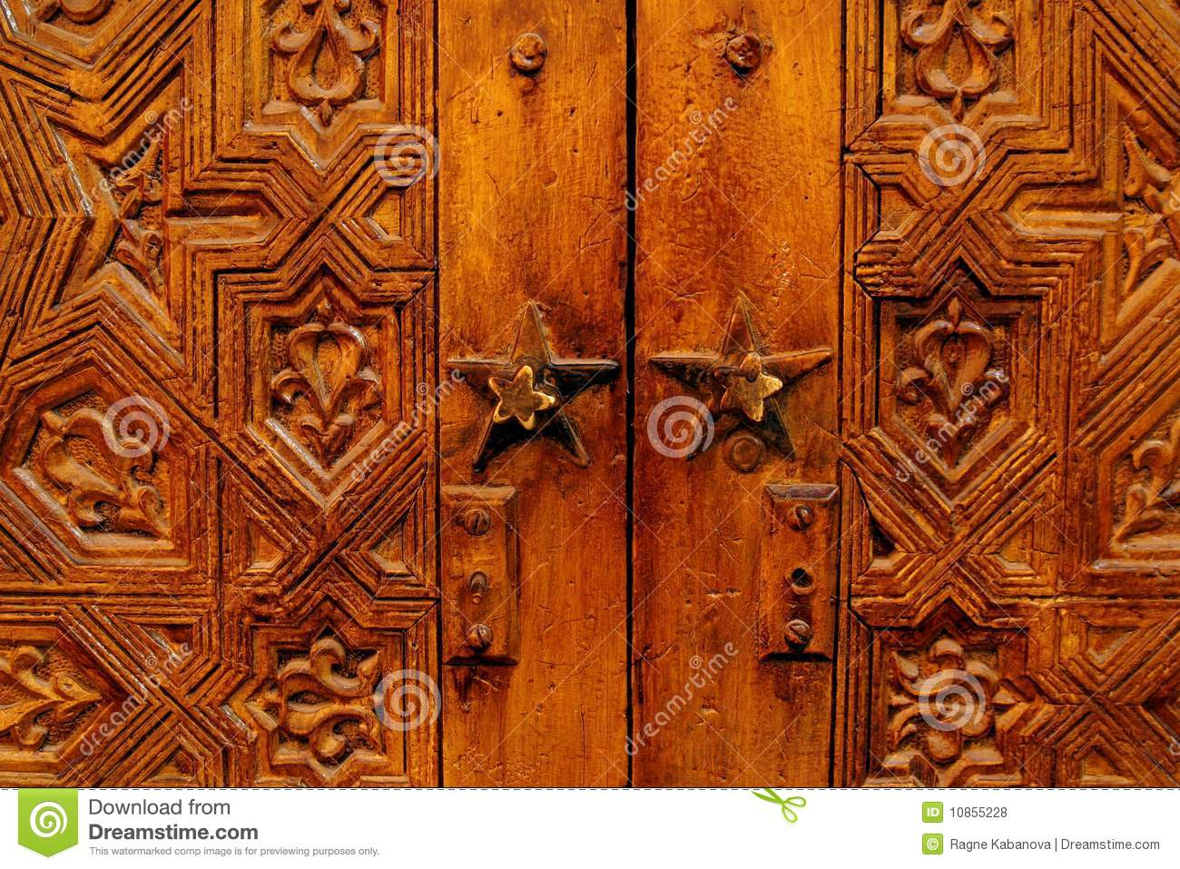 957 #B54B0E Beautiful Hand Carved Wooden Door In Morocco Royalty Free Stock Photos  image Beautiful Wooden Doors 46731300