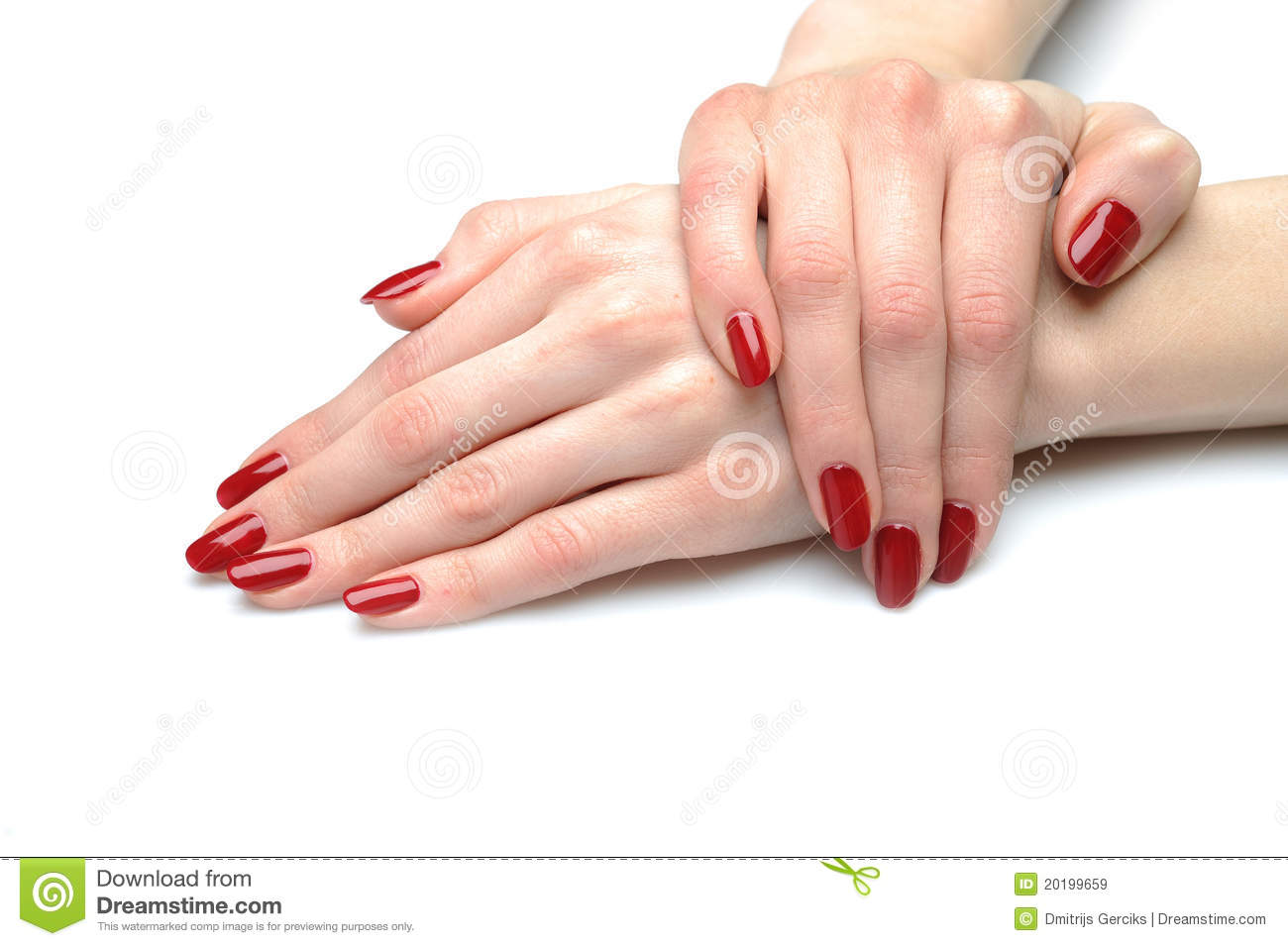 Beautiful Hand With Nail Red Manicure Royalty Free Stock Images ...