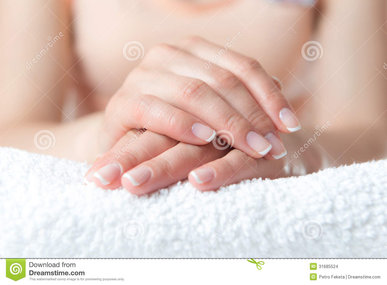 Beautiful Hand With Perfect Nail French Manicure Stock Photo Image 31685524
