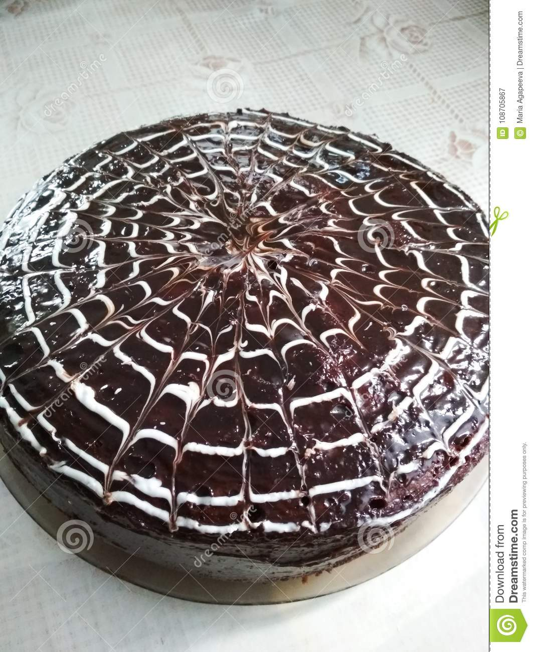 Beautiful Chocolate Cake Stock Image Image Of Dessert 108705867