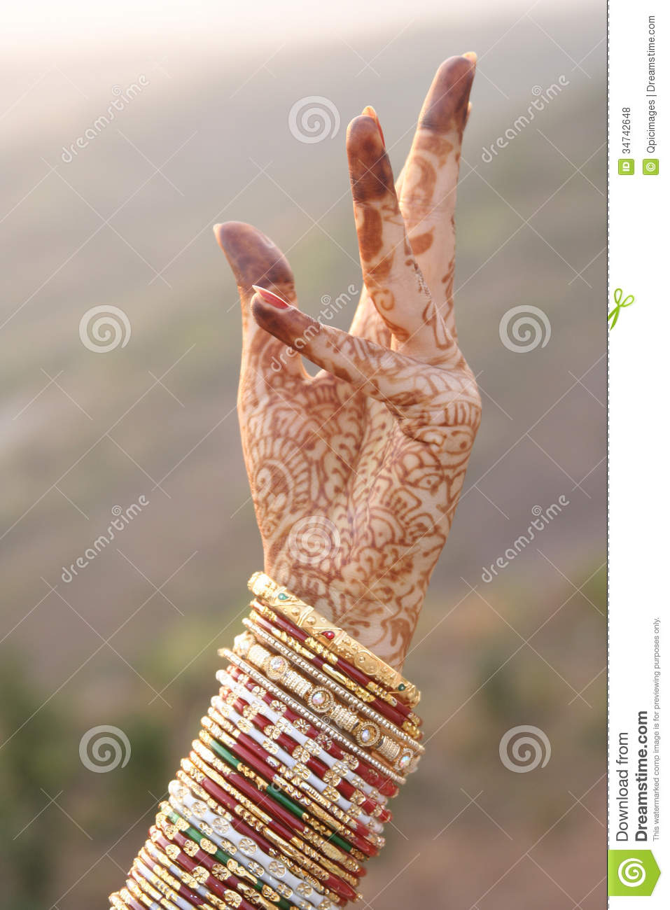 Beautiful Hands Of An India Bride Stock Photo - Image: 34742648