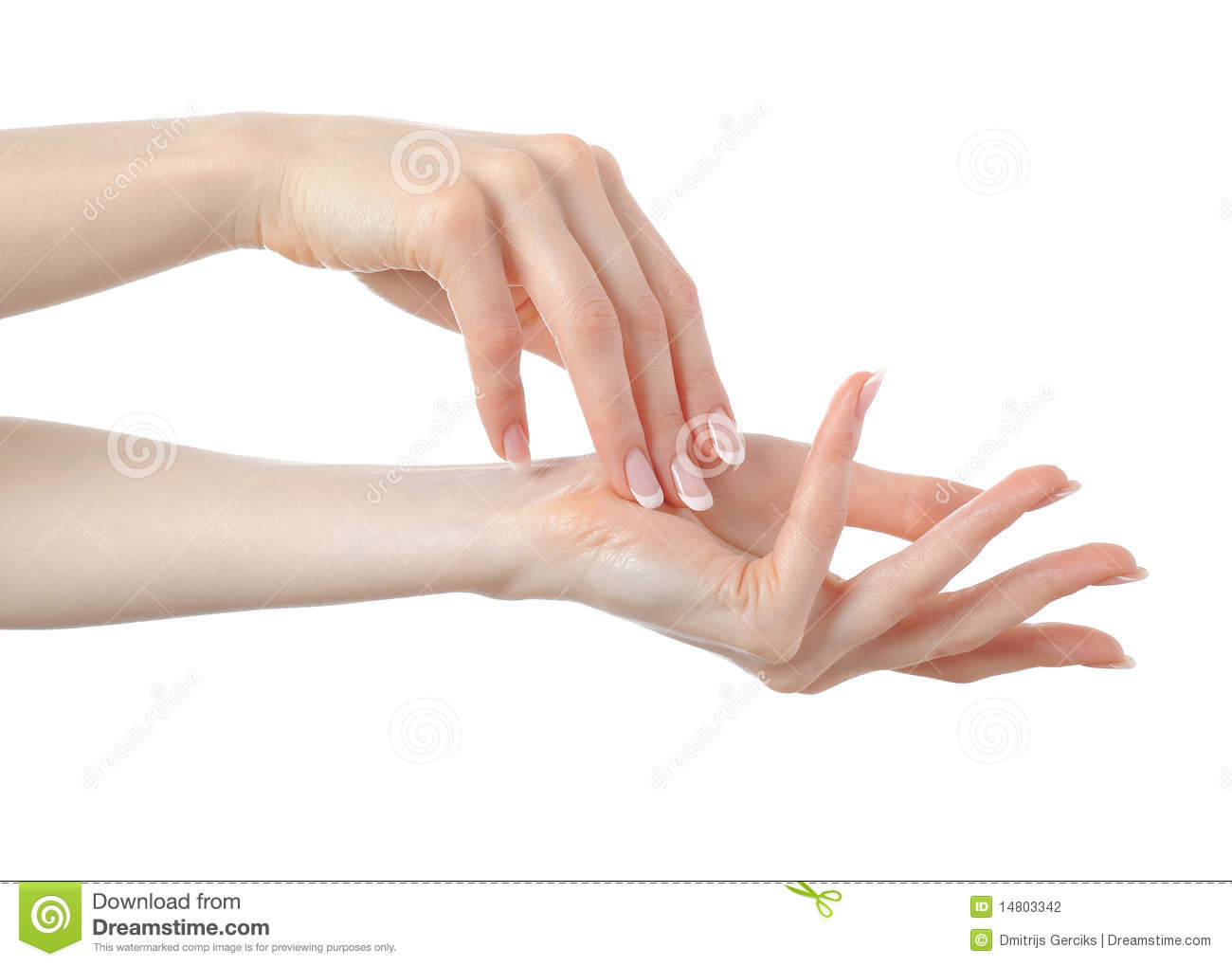 how to say hand in french