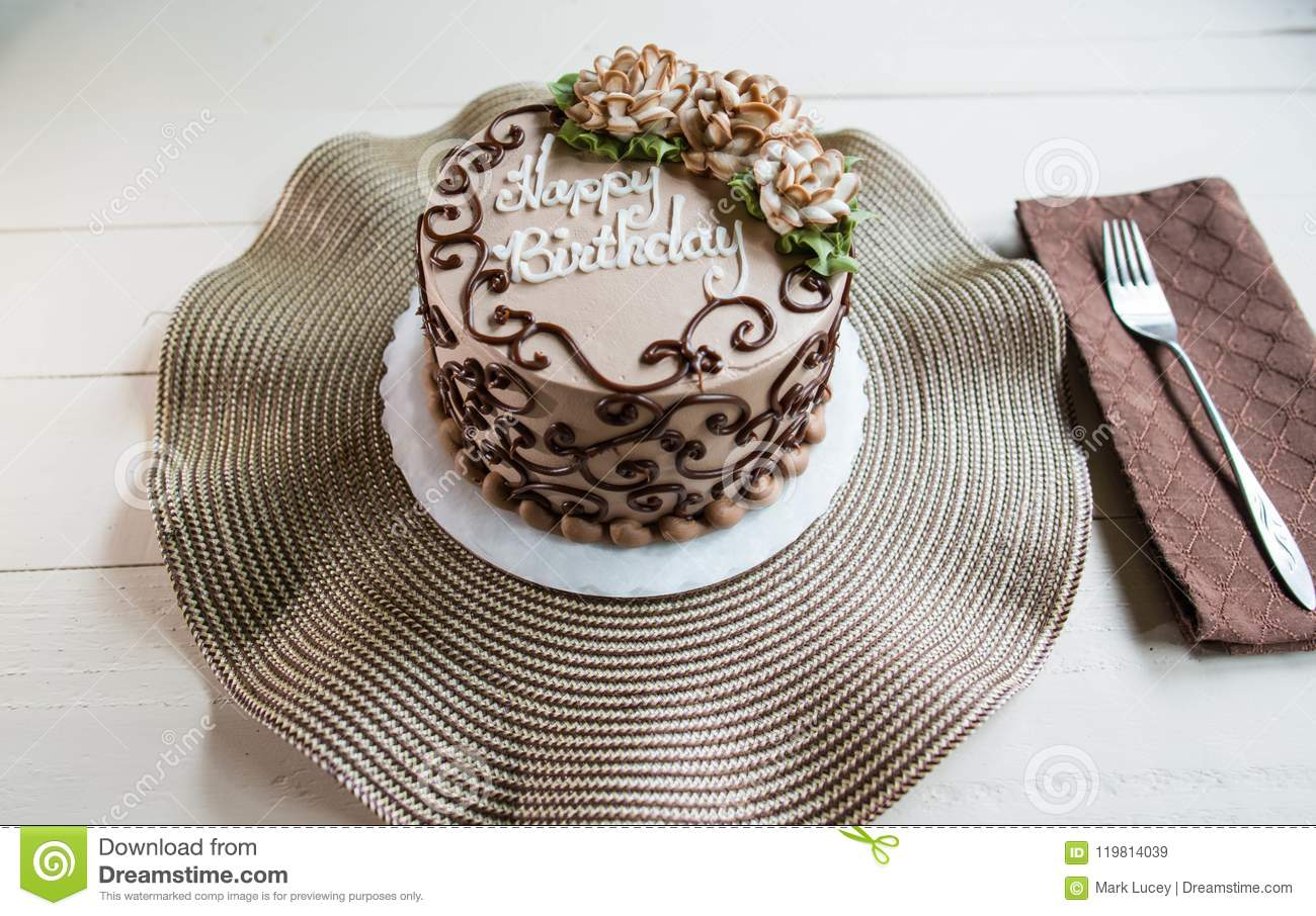 Beautiful Happy Birthday Cake Stock Image Image Of Event Icing