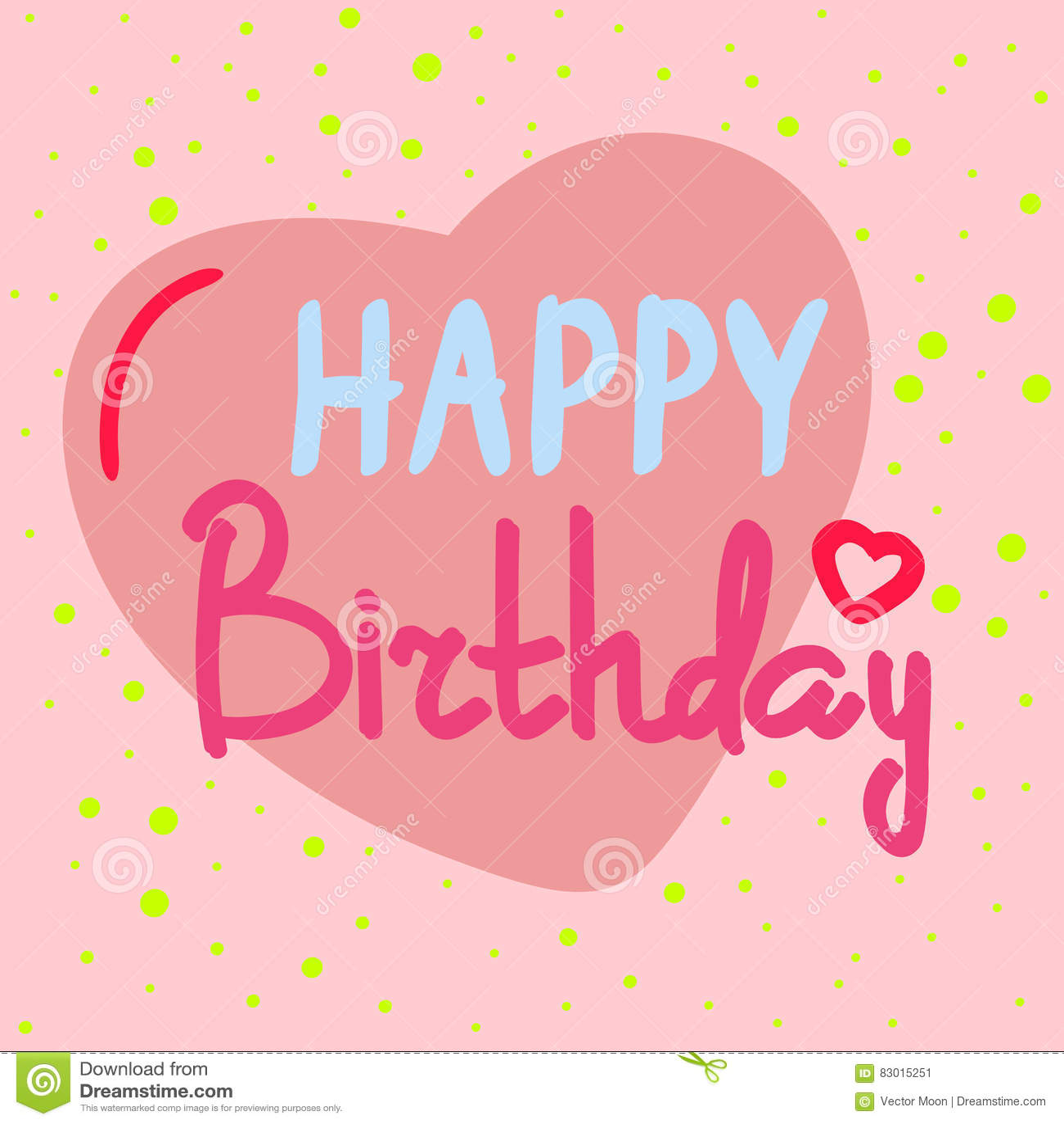 Beautiful Happy Birthday Invitation Cards Vector Stock Vector