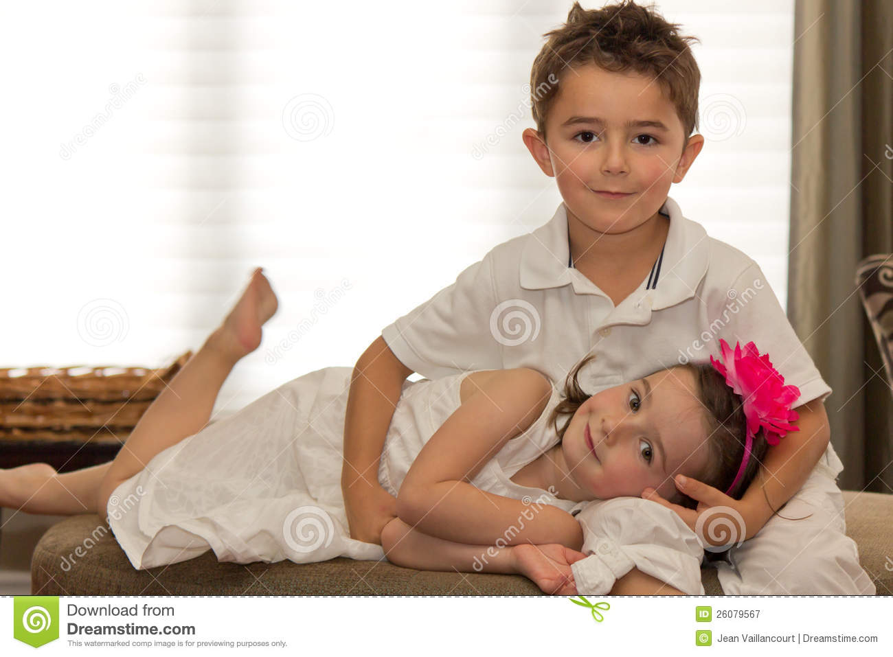 Beautiful, Happy Children Posing Royalty Free Stock ...