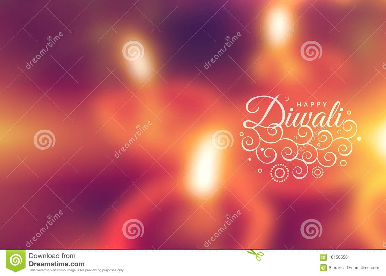 Beautiful Happy Diwali Greeting Wallpaper Stock Vector