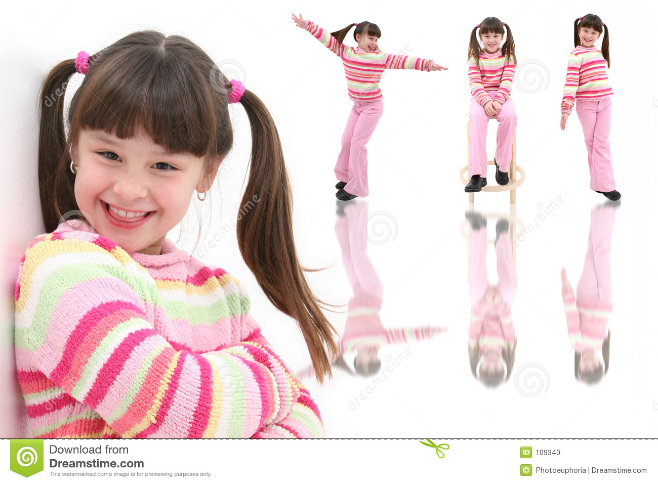 Beautiful Happy Seven Year Old Girl Stock Photo - Image 109340-3709