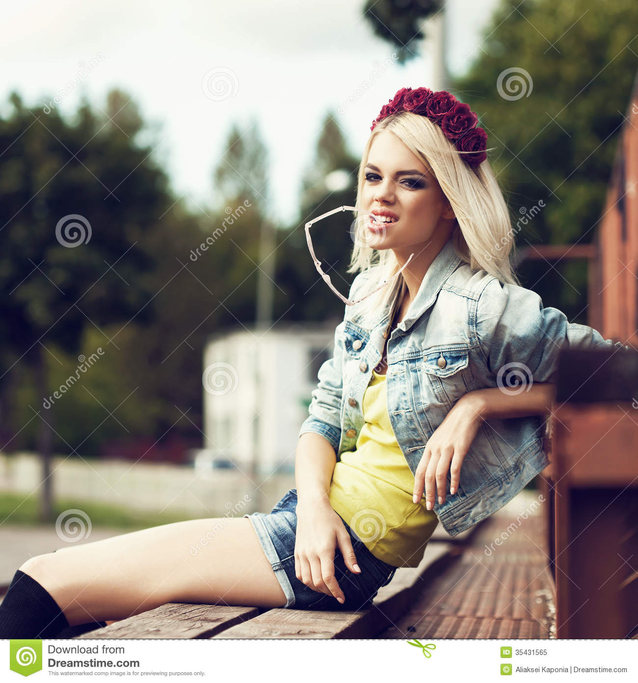 Beautiful Happy Student Relaxing Outdoor Royalty Free Stock Photo - Image: 35431565
