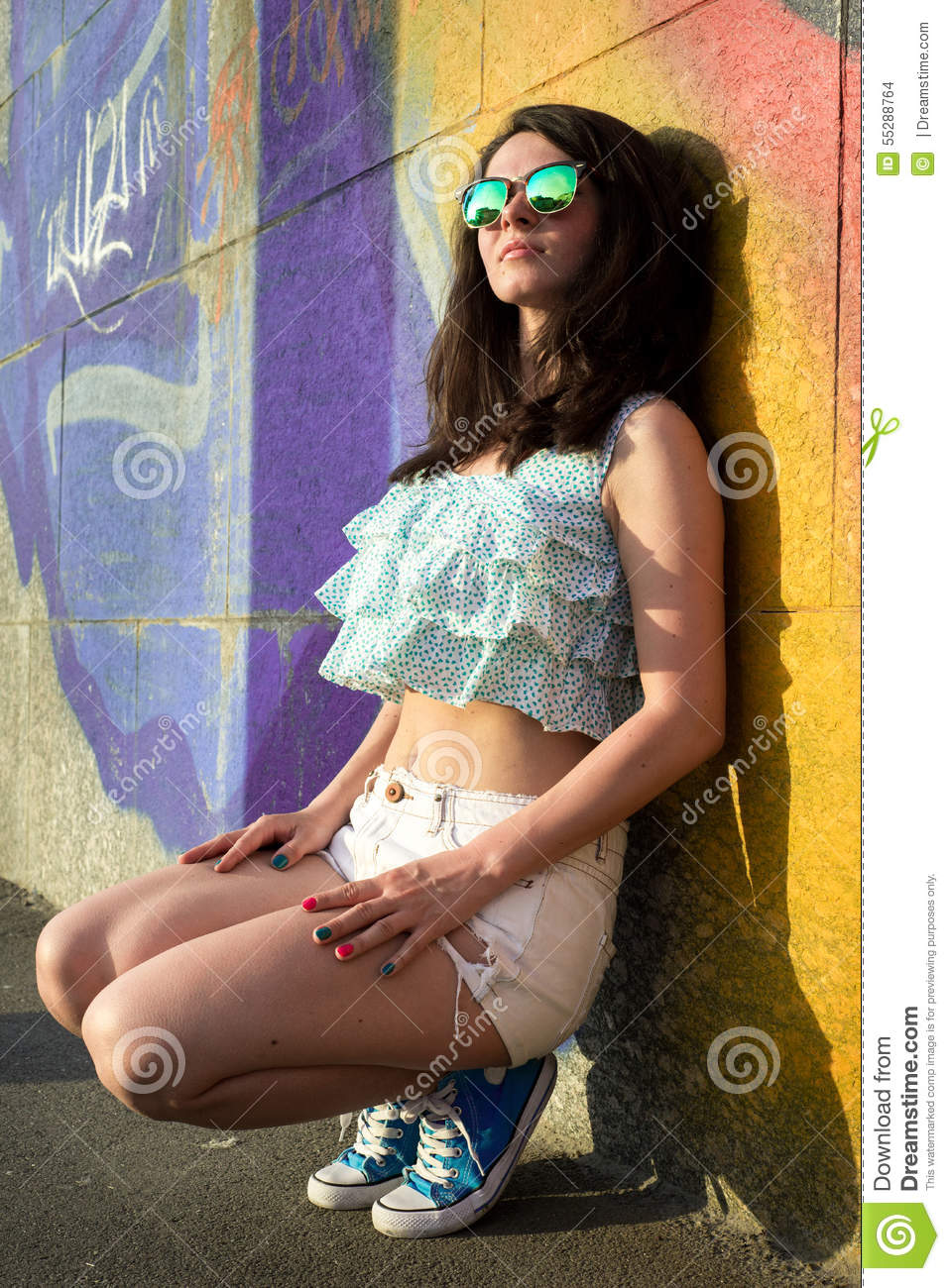 Beautiful Happy Young Woman Outdoors