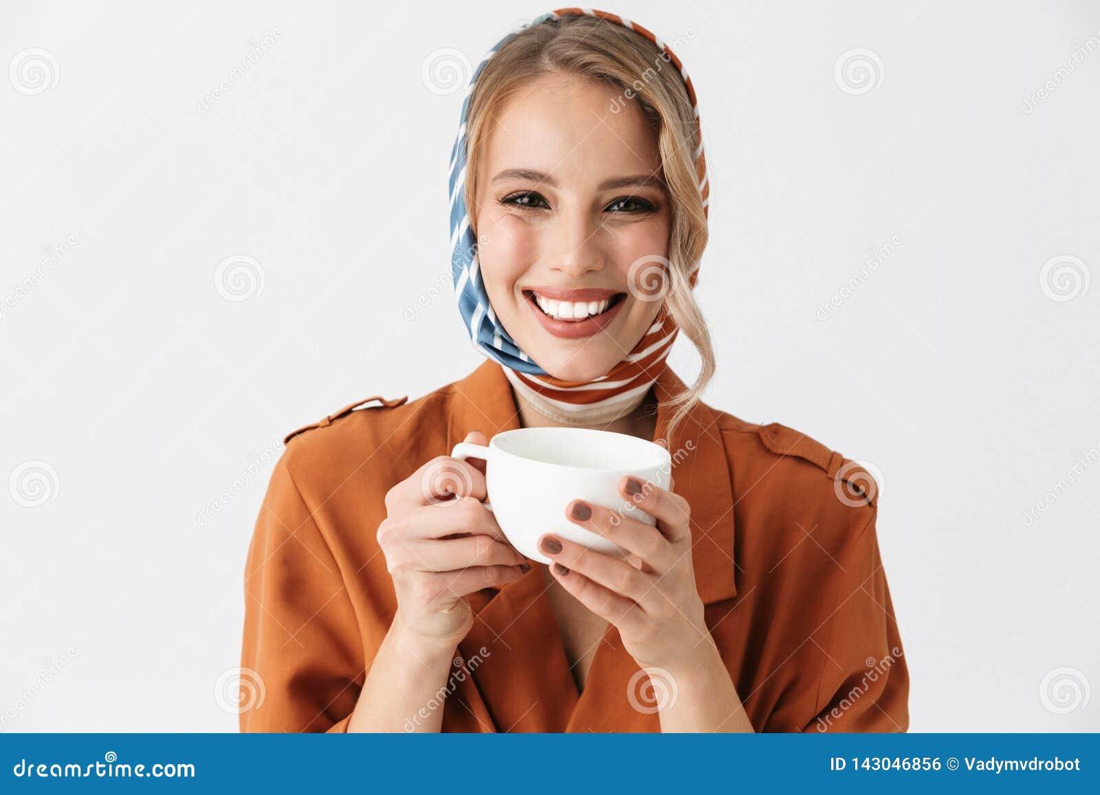 Beautiful Serious Young Blonde Pretty Woman Wearing Silk