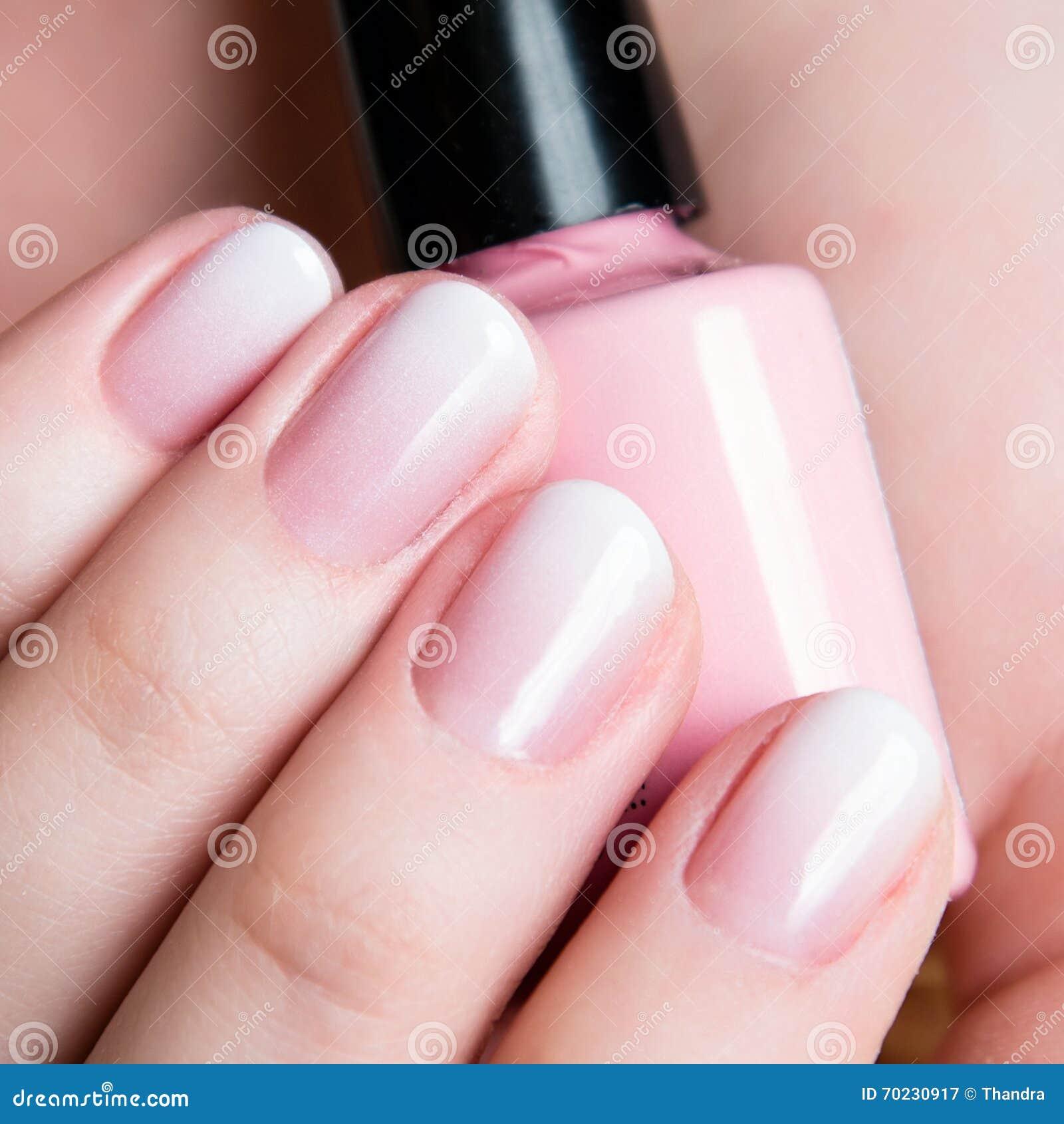 Beautiful Healthy Natural Nails Beauty Long Woman Close Up