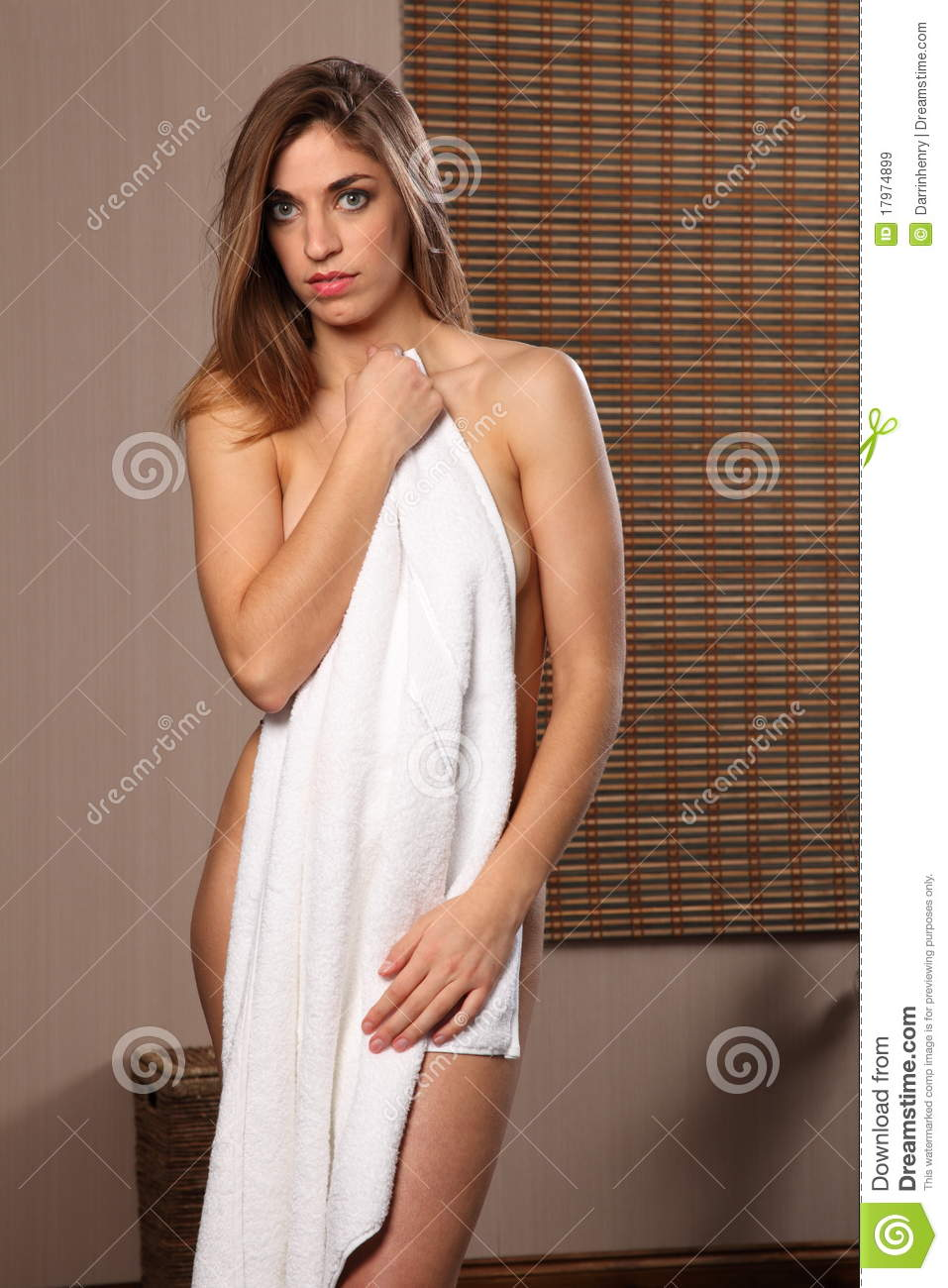 Beautiful Healthy Nude Woman Towel Over Body Royalty Free Stock Images -4834