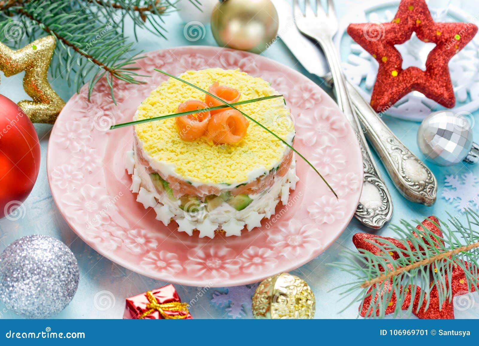 New tasty salads - festive table decoration 88