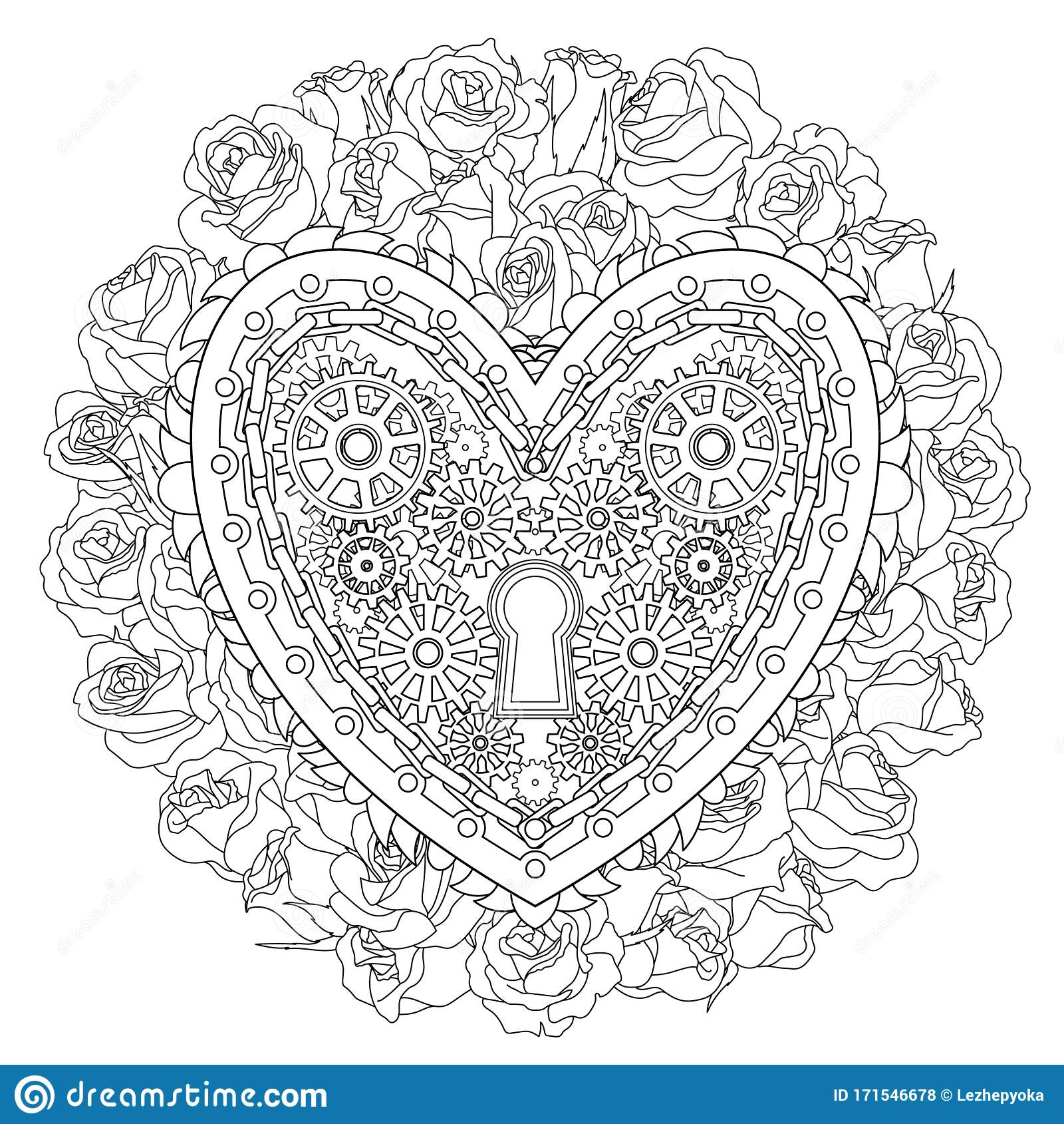 Beautiful Heart Coloring Book Stock Illustrations 1 350 Beautiful Heart Coloring Book Stock Illustrations Vectors Clipart Dreamstime