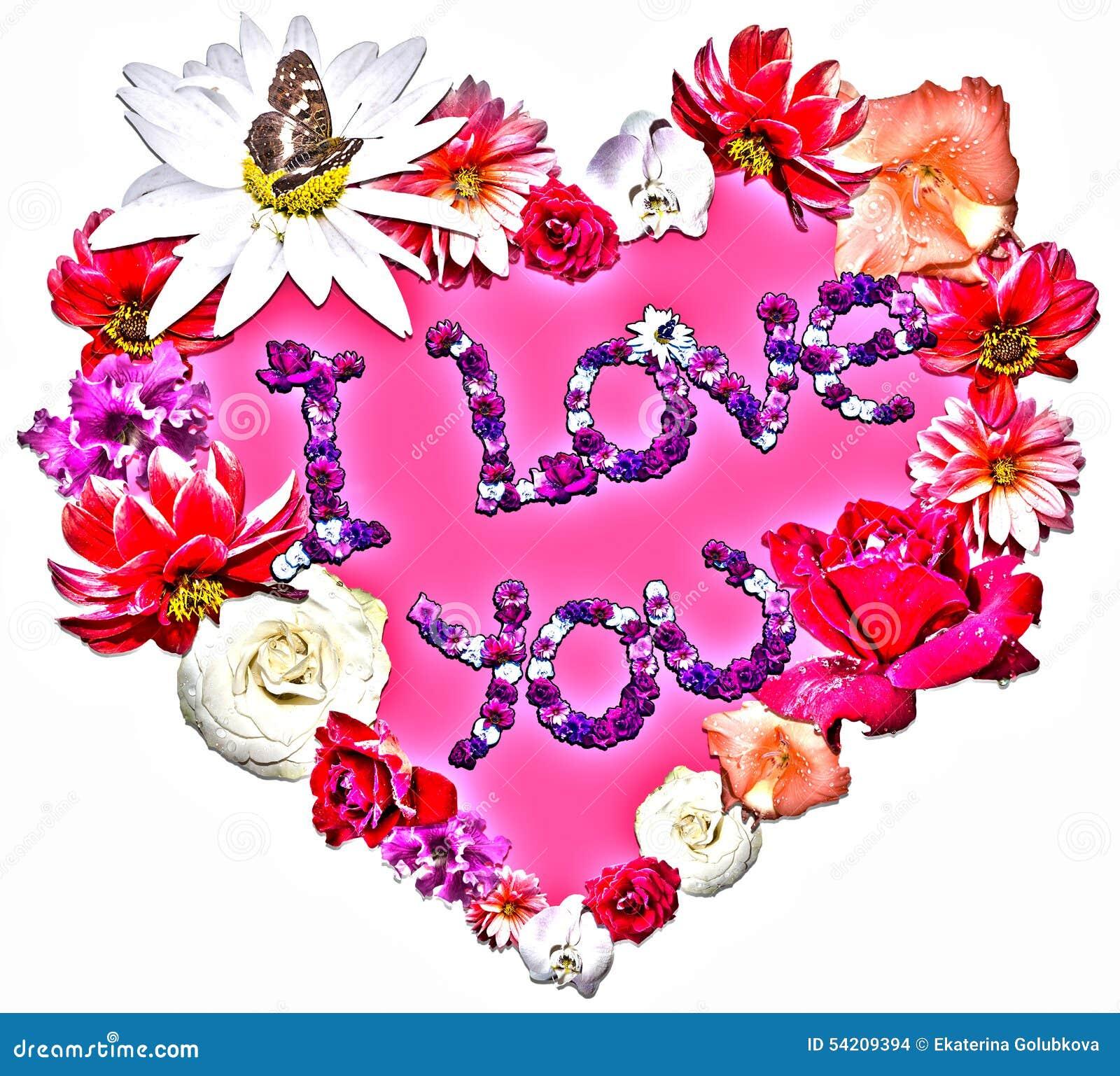 Love Symbols With Flowers Olivero