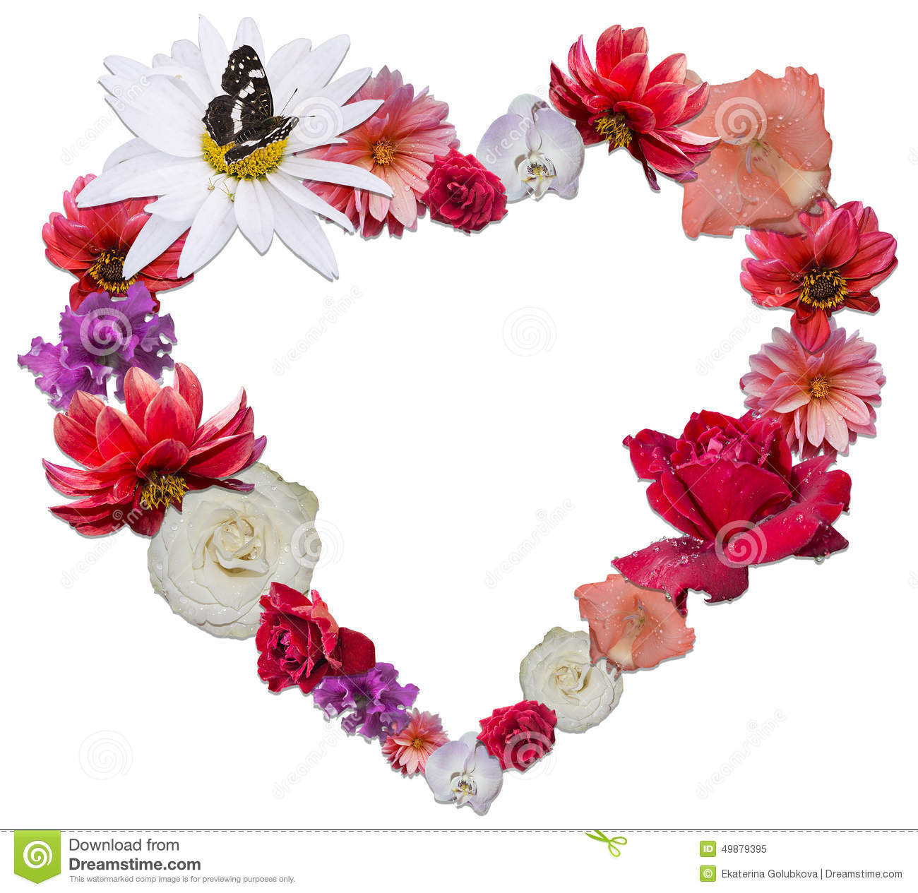 Beautiful heart made of different flowers as a symbol of love stock beautiful heart made of different flowers as a symbol of love royalty free stock photo buycottarizona Images