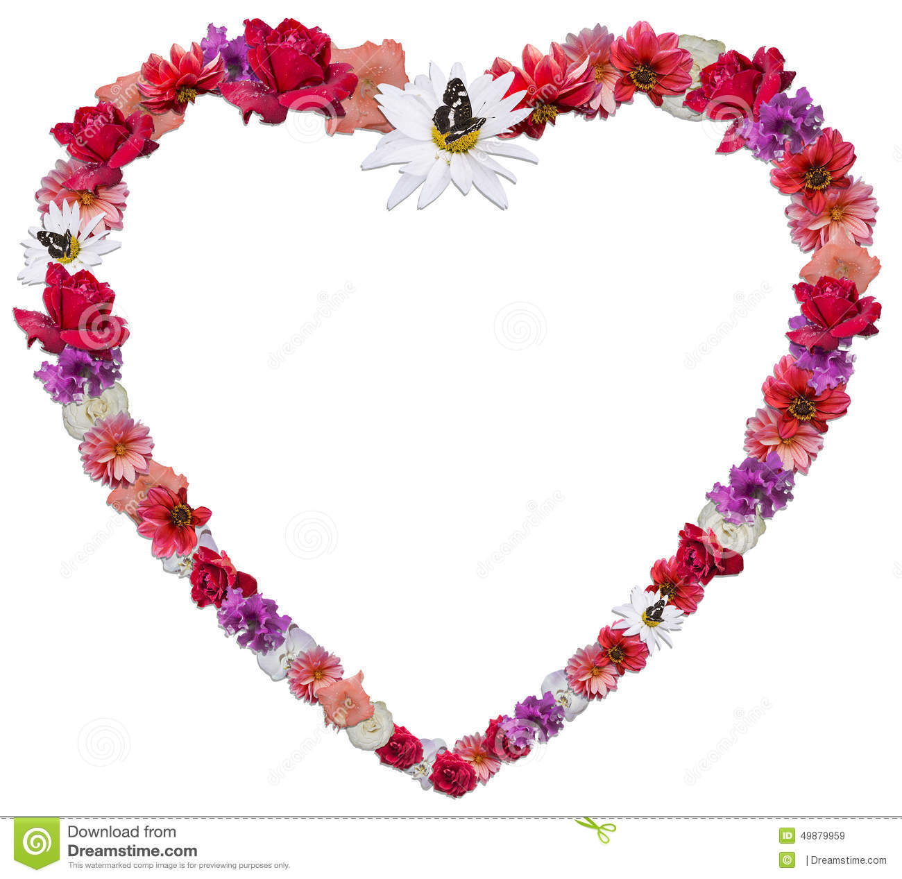 Beautiful heart made of different flowers as a symbol of love stock beautiful heart made of different flowers as a symbol of love royalty free stock images buycottarizona Images