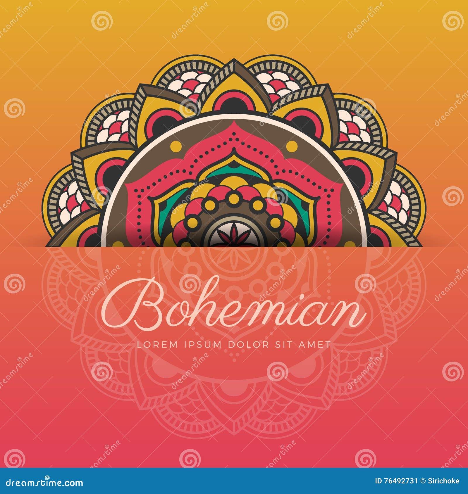 Beautiful Henna Mandala Ornament Design Stock Vector Illustration