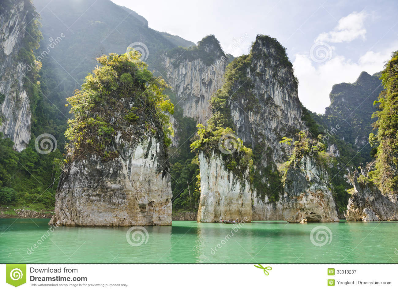 Beautiful High Mountains And Green River ( Guilin Of Thailand ) Royalty Free Stock Photography ...