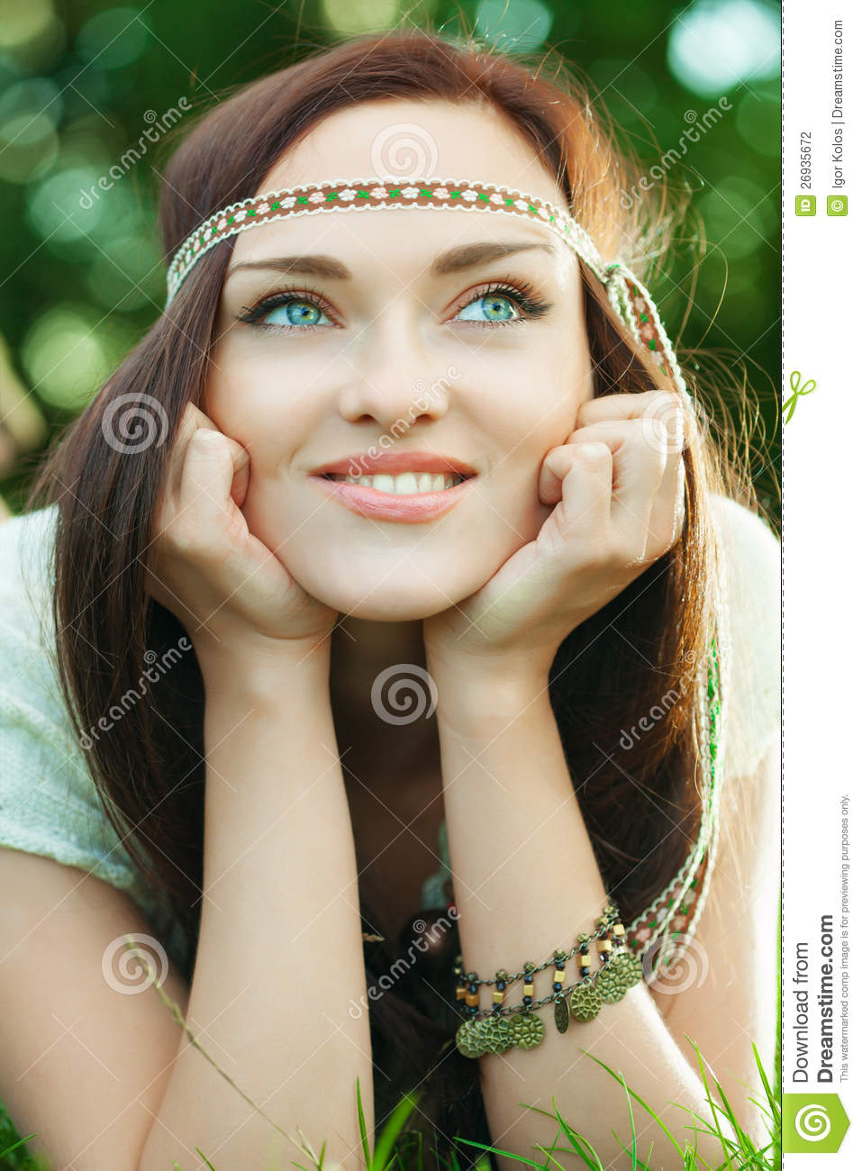 Beautiful Hippie Girl Stock Photography - Image: 26935672