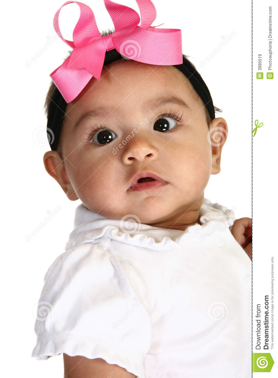 beautiful hispanic baby girl stock image - image of lips, pretty