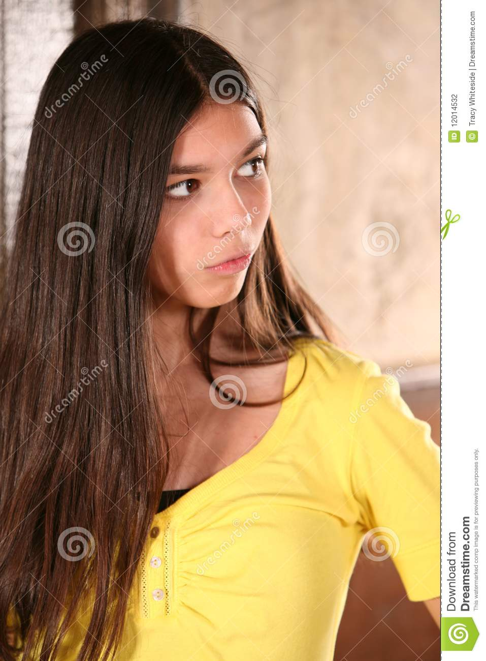 Beautiful Hispanic Girl Stock Photography