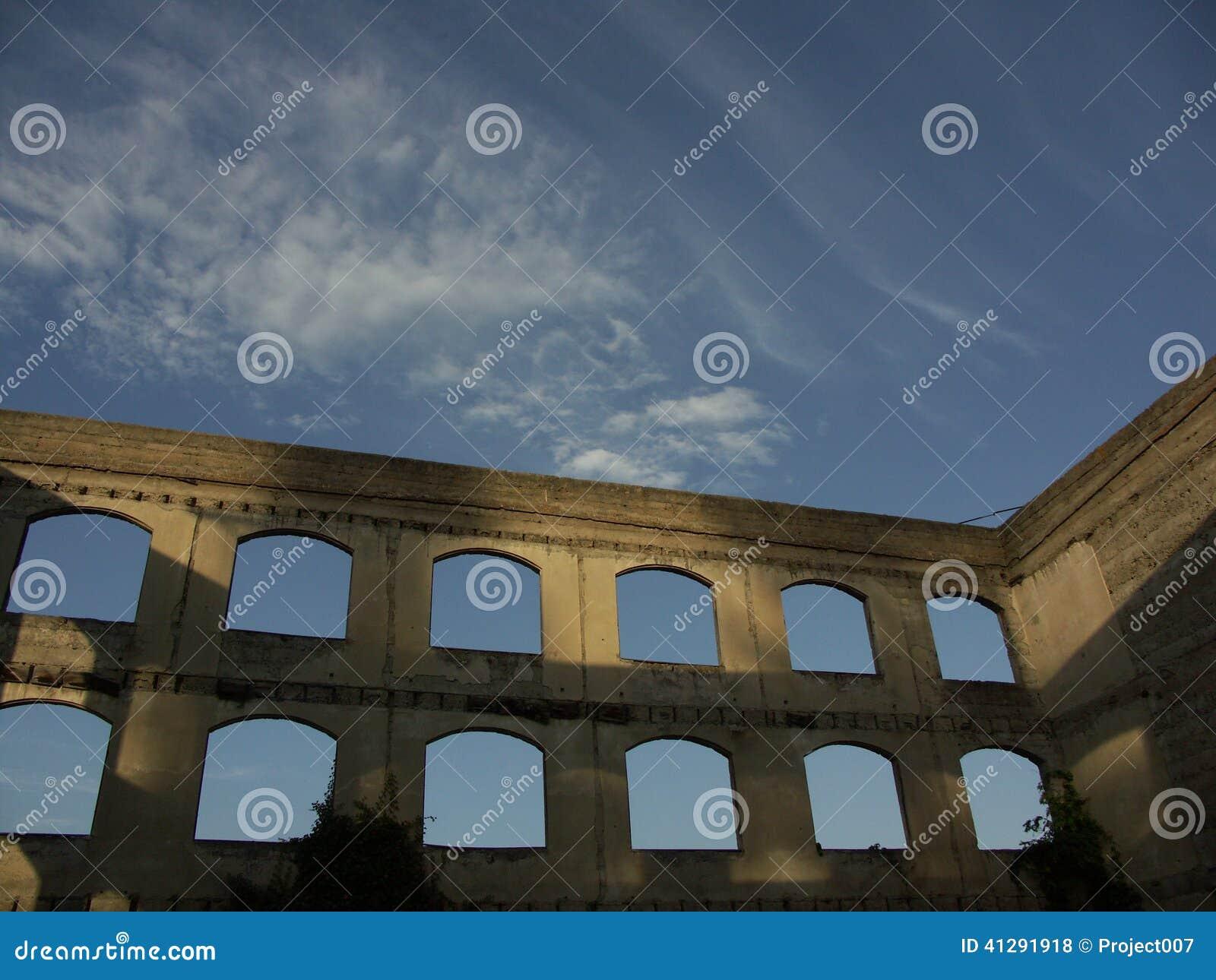 Beautiful Historic European Style Windows Editorial Stock