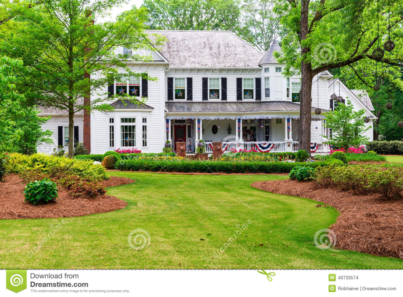 Beautiful Historic Traditional Home Stock Photo Image