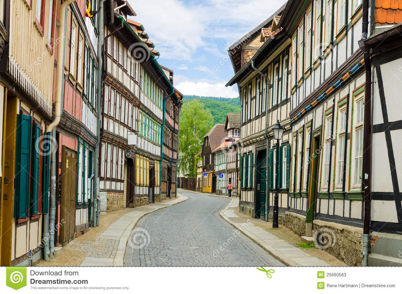 Beautiful Historical German Street Stock Photos Image