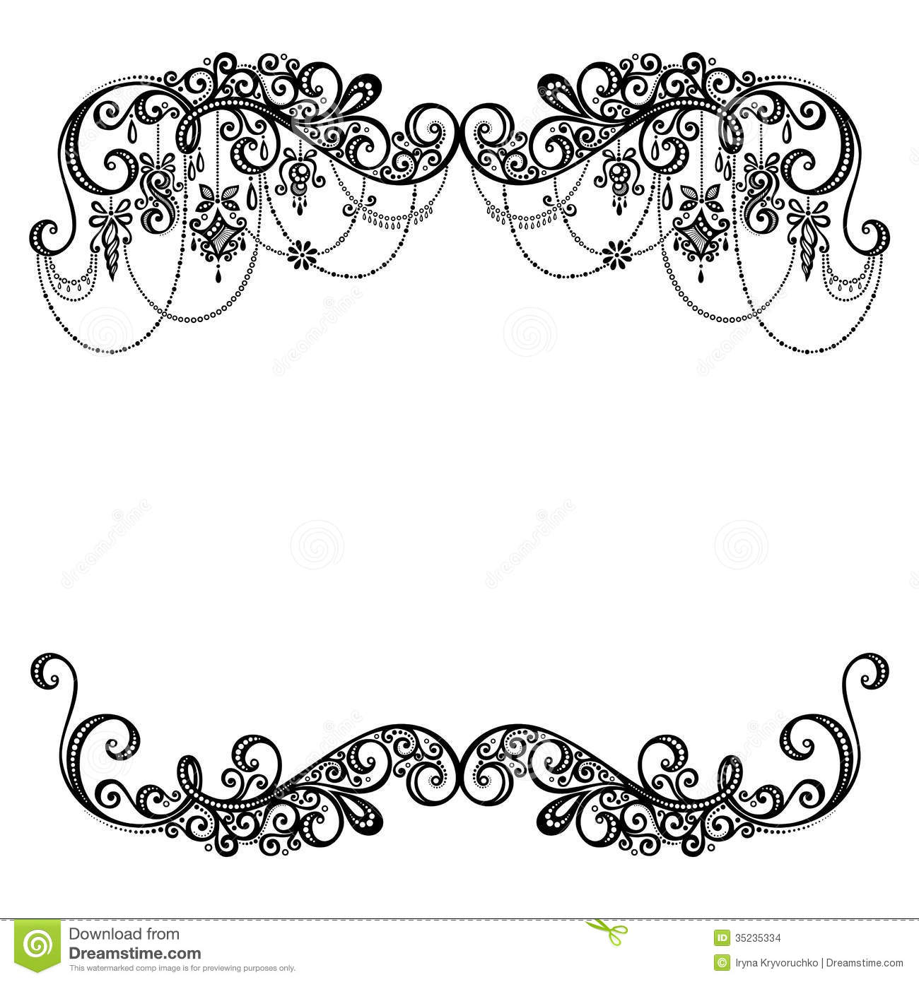 Beautiful Holiday Frame With Christmas Decorations Stock