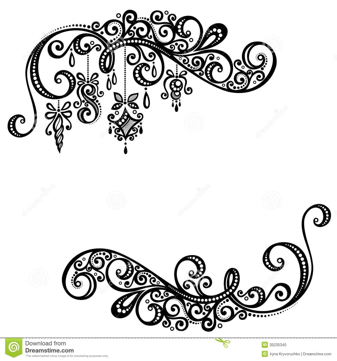 Beautiful holiday frame with christmas decorations stock for Drawing decoration ideas