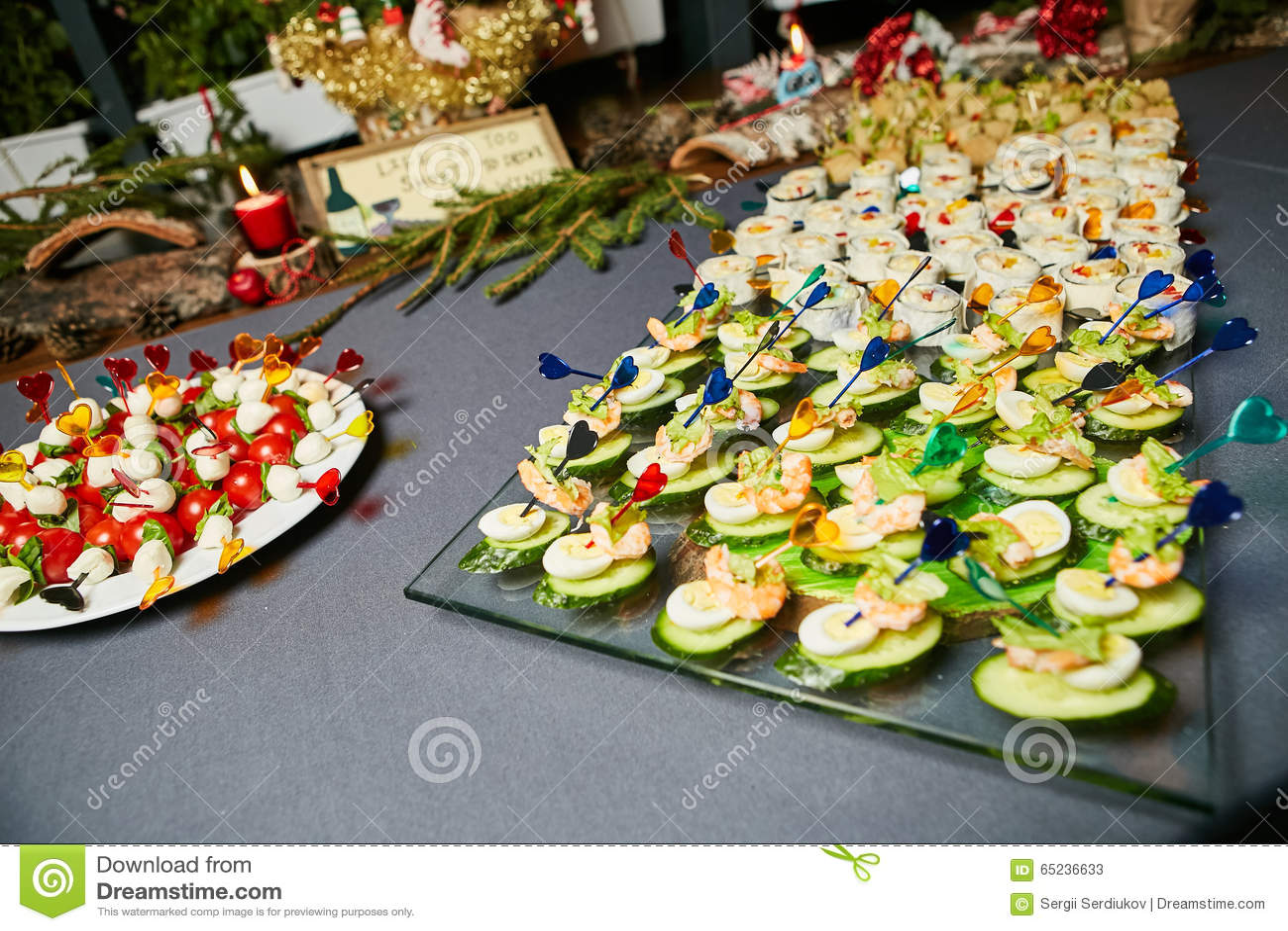 Beautiful Holiday Table Setting Stock Image Image Of Celebration
