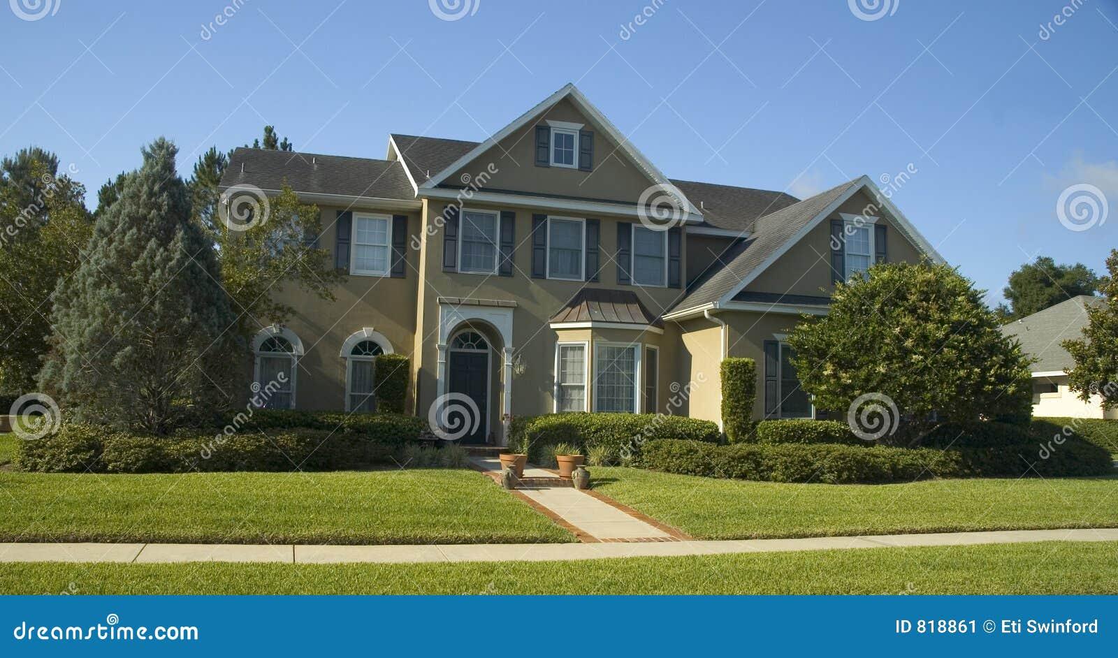 Beautiful Home Stock Image Image 818861