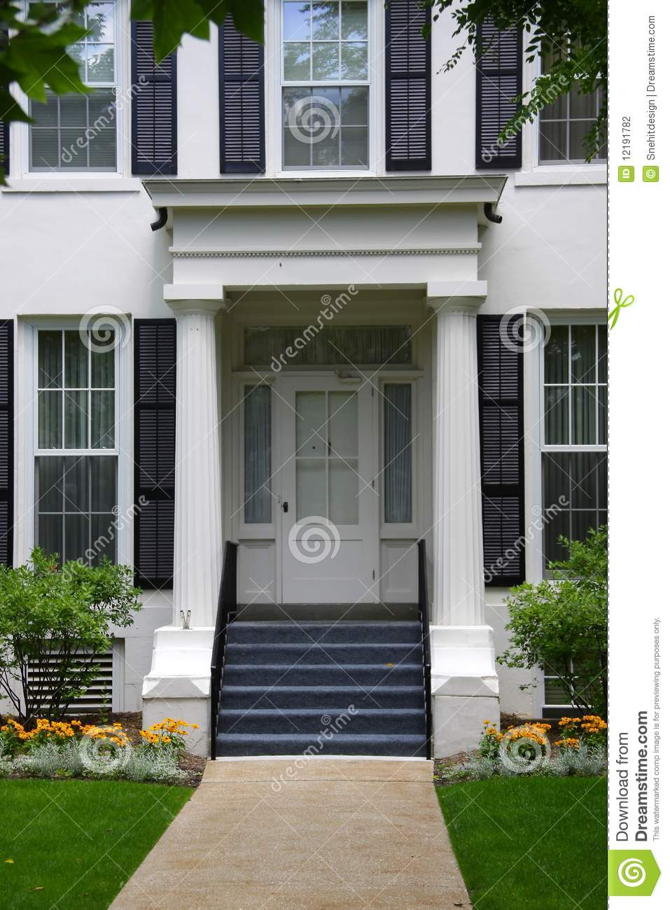 beautiful home entrance stock photo image of front