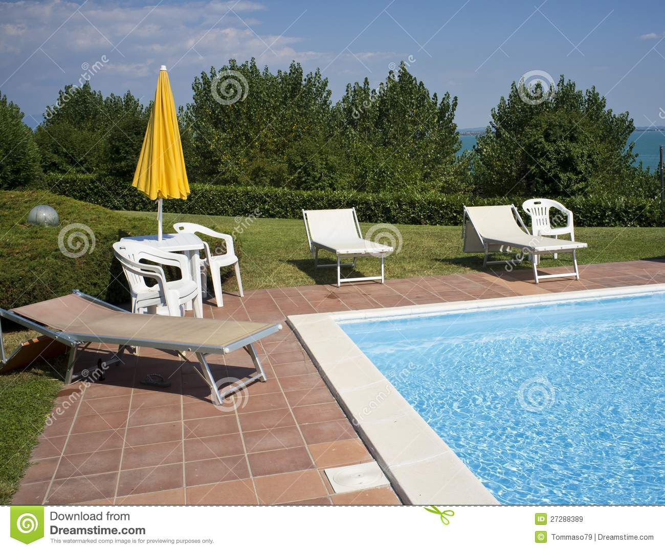 A Beautiful Home With Swimming Pool Stock Image Image