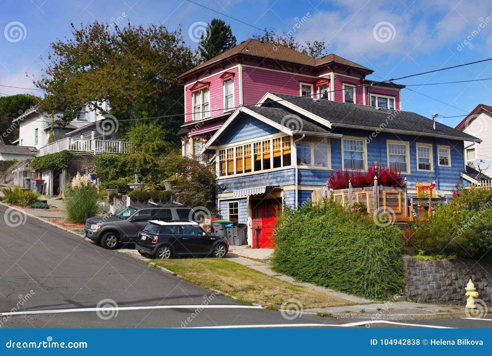Download Astoria Homes,  Oregon United States Editorial Stock Photo - Image of united, oregon: 104942838