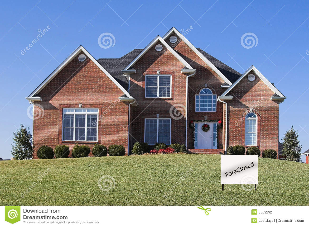Beautiful homes foreclosure stock photography image 8369232 for Big white real estate foreclosure