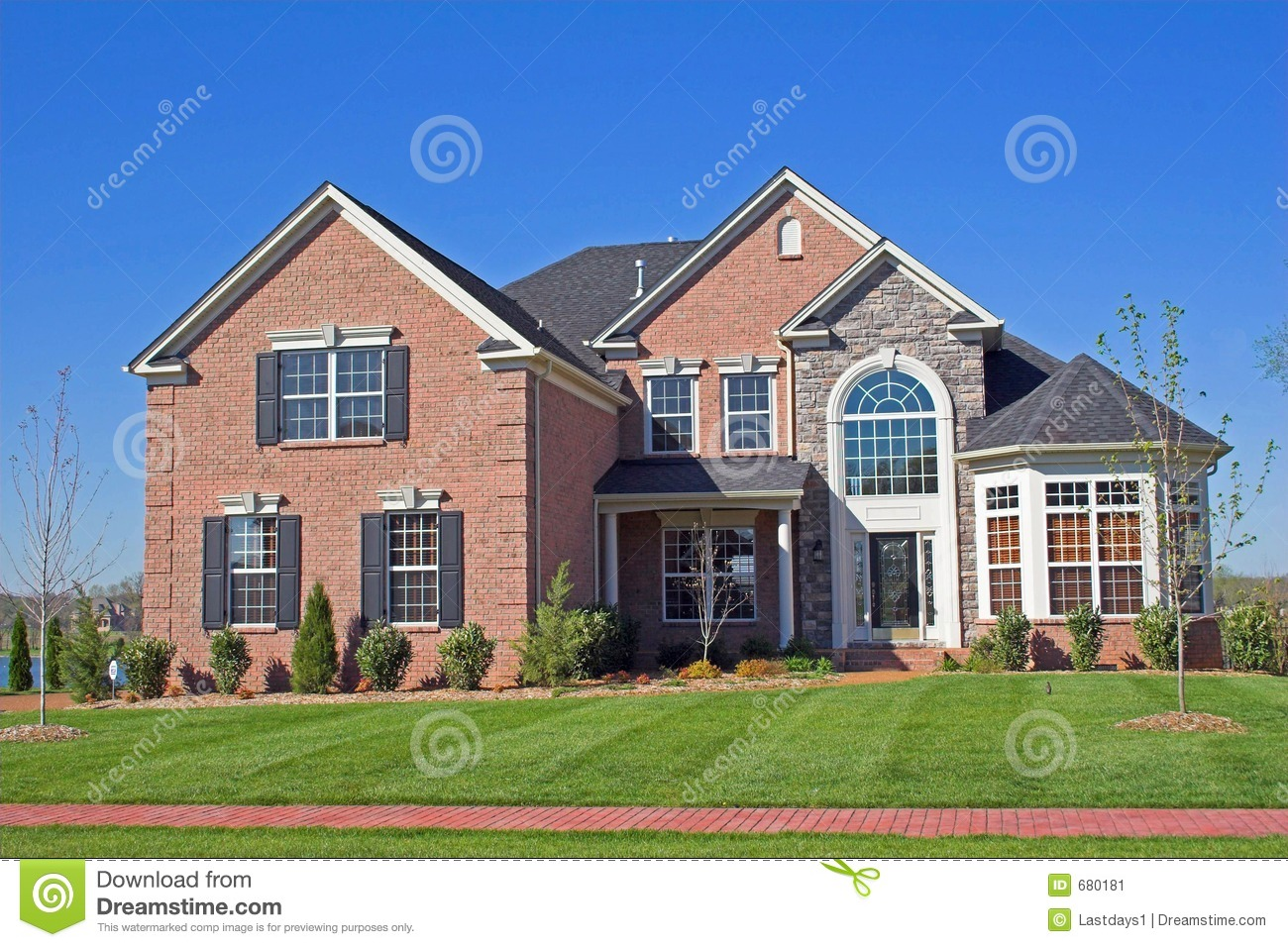 Beautiful homes series 1d stock image image 680181 - A beautiful home ...
