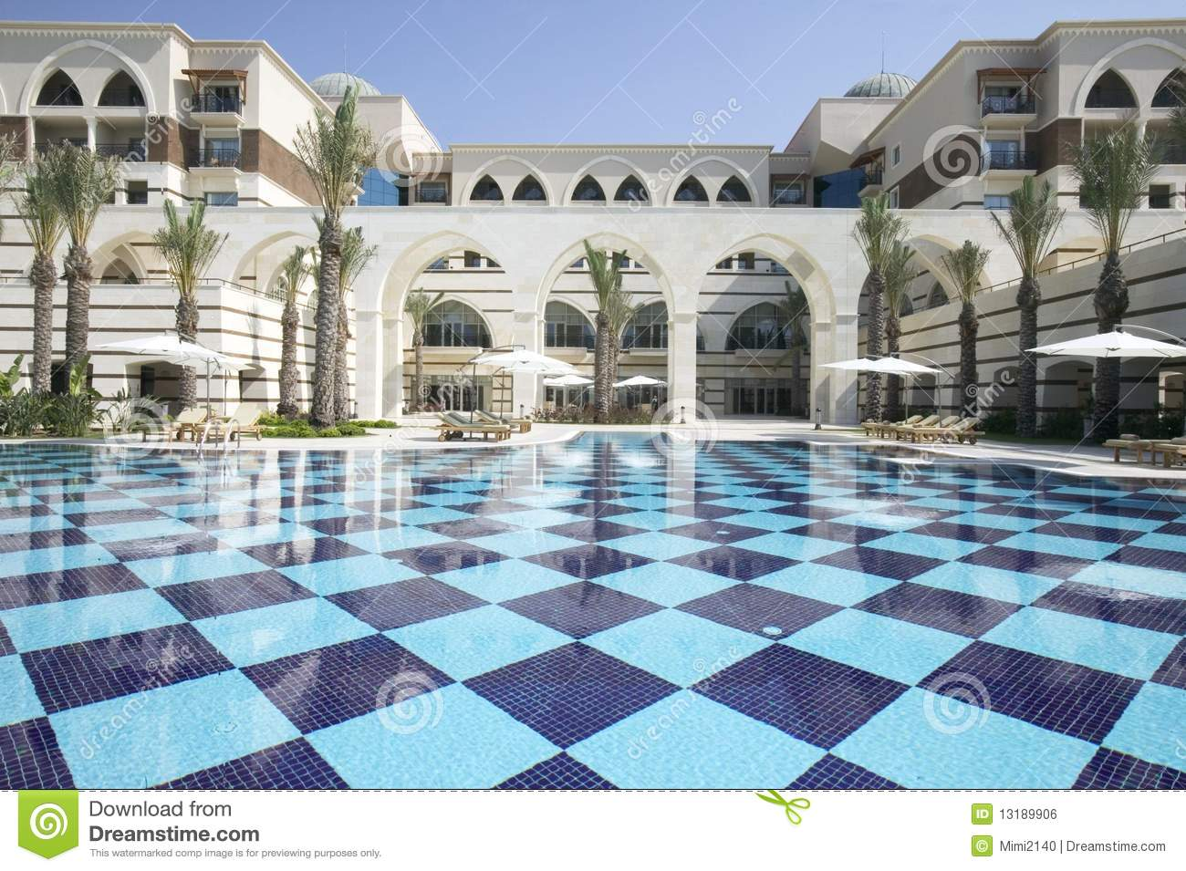 Beautiful hotel stock photo image of pool morocco for Beautiful hotels