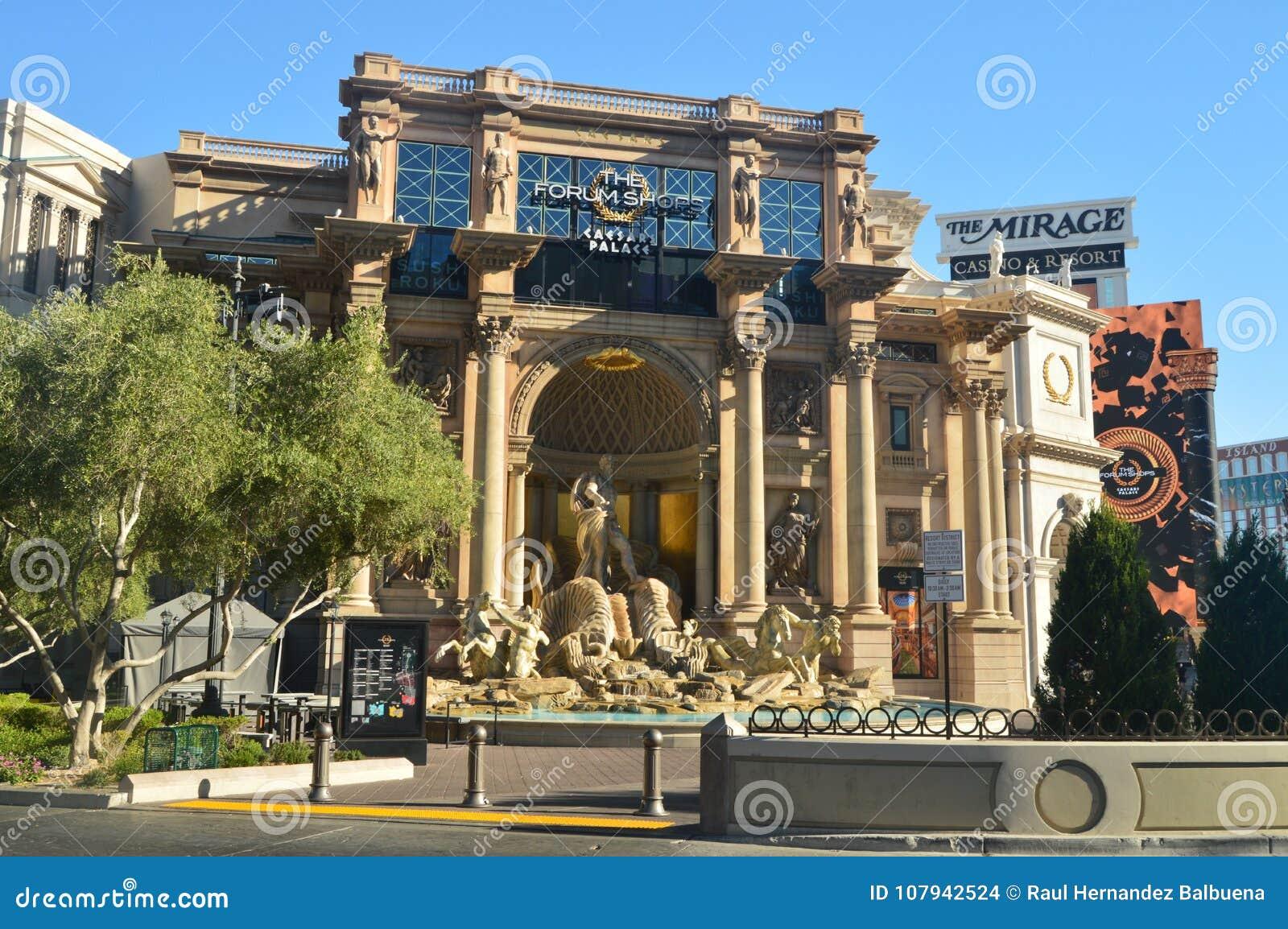 Beautiful Hotel Caesar Palace On The Las Vegas Strip. Travel Vacation