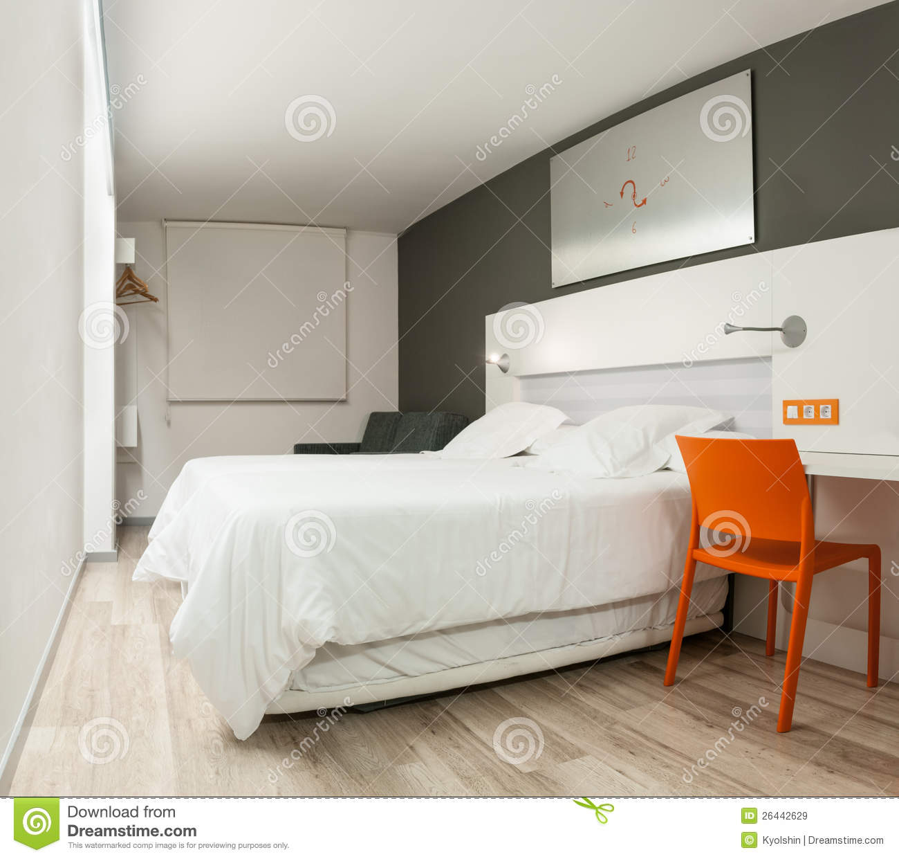 Beautiful hotel room with modern design royalty free for Stylish furniture